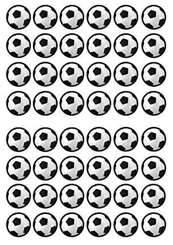48de balón de fútbol comestible Premium de grosor edulcorados vainilla, oblea Rice Paper Cupcake Toppers/adornos