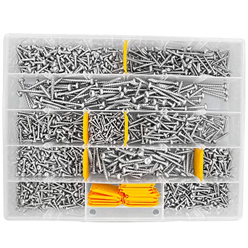 1450 tlg Schrauben Sortiment Pan-Head Torx Vollgewinde verzinkt 3,5x20 bis 6x50