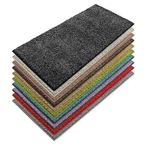 Teppich Läufer Luxury | moderne Shaggy Optik mit flauschigem Hochflor | Teppichläufer in vielen Farben für Flur, Schlafzimmer, Wohnzimmer etc. | viele Breiten und Längen (80 x 150cm, anthrazit)