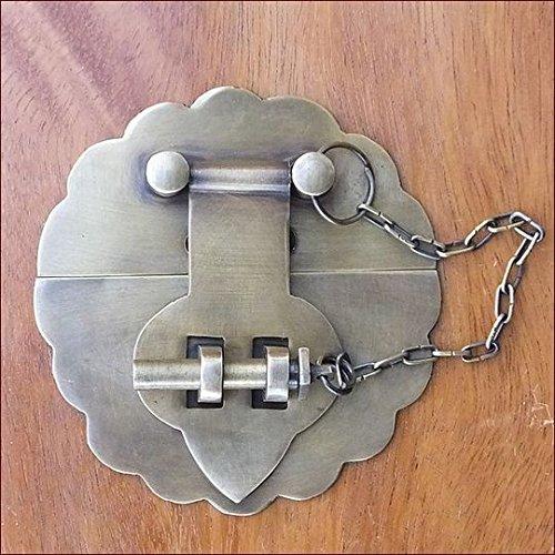 MANJA MTMET-099 真鍮 金具 金物 かんぬき 閂 取っ手 ドアノブ つまみ ハンドル アンティーク レトロ調 ナチュラル