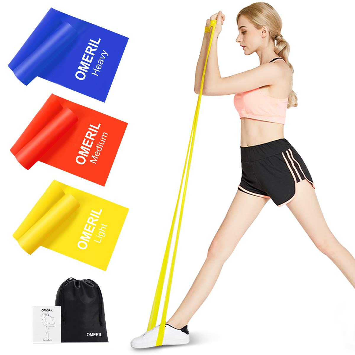 1.5m Loop Latex Resistance Band Body Home Gym Training Pull Up Fitness Exercise