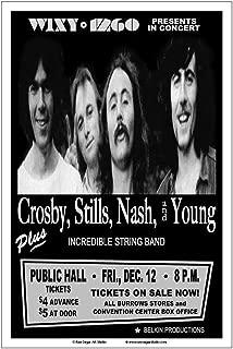 Raw Sugar Art Studio Crosby Stills Nash Young/CSNY 1969 Cleveland Concert Poster