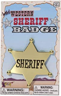Forum Novelties Sheriff Star Badge - Plastic, One Size, Gold