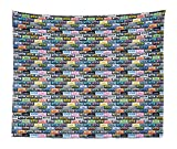 Immagine 1 retro tapestry king size music