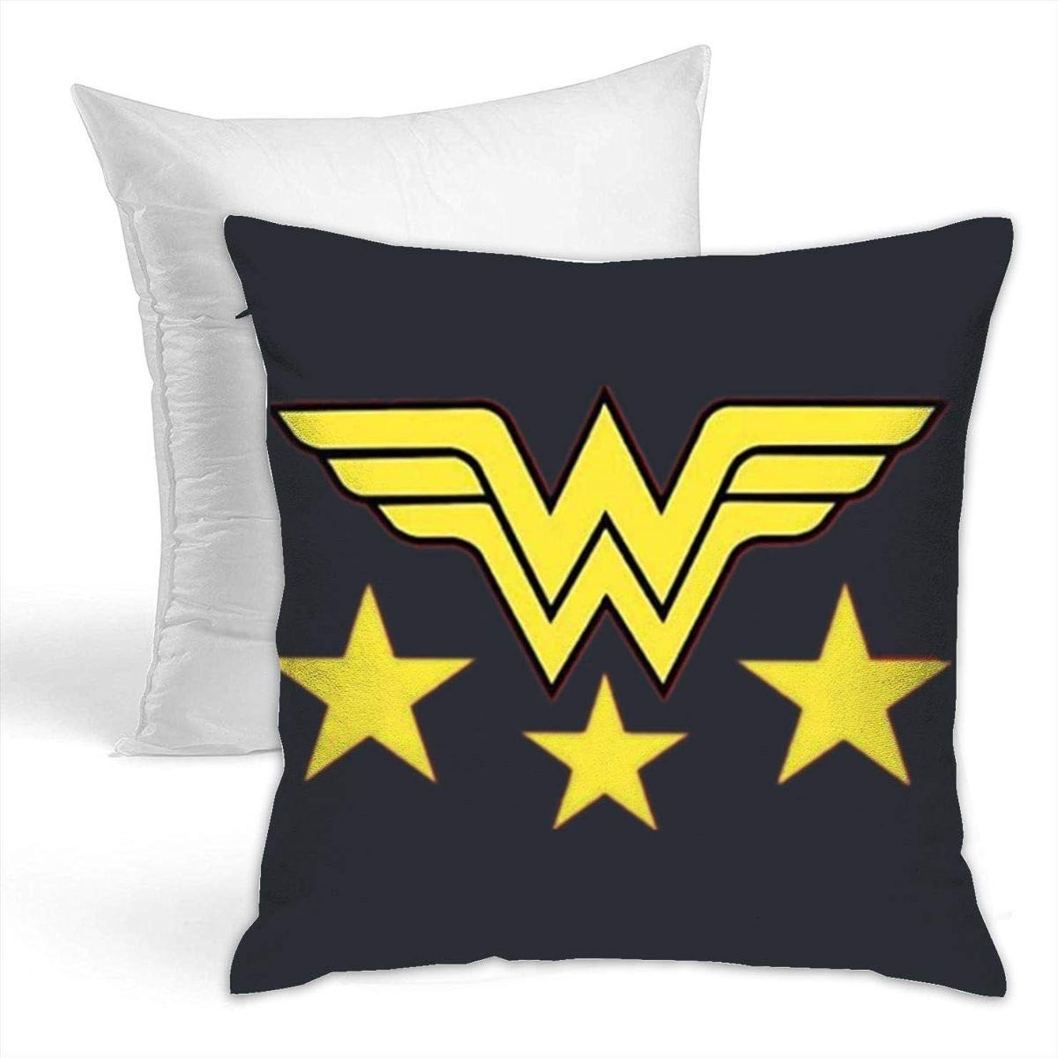 側溝貝殻追跡Wonder Women American Star クッション ソファ背当て 装飾枕カ 座布団 枕 車用品 ホーム 部屋 インテリア 飾り 抱き枕 1個