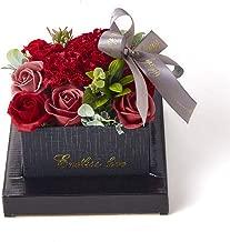 ソープフラワー 【大切な人に想いを伝える】Groovy ギフト 花束 花瓶 ボックス 誕生日 母の日 プレゼント 花 枯れない花 メッセージカード付(レッド)
