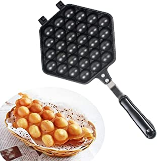 Egg Waffle Pan-vinmax Make Hong Kong Egg Waffle Griddle Non-Stick Grill Egg Cake Pan Egg Puff Waffle Maker Double Sided Iron Pressure Pan