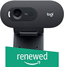 Logitech C270 Desktop or Laptop Webcam, HD 720p Widescreen for Video Calling and Recording (Renewed)