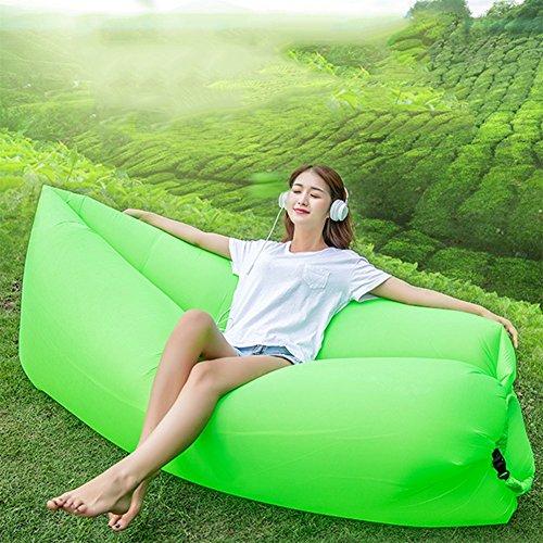 OOFAY Impermeable Y Durable Plegable Sofá De Aire Interior Y Al Aire Libre Hangout Silla De Aire Sofá Hamaca Perezoso,Green