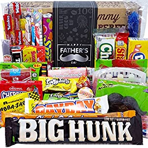 THE BEST FATHERS DAY CANDY CARE PACKAGE OF 2021 - Our 77 Piece FATHERS DAY Candy Extravaganza Is Our Biggest Hit For Father's Day This Year. Made With Lots of Love, Our Best Vintage Retro Candies Come Together To Delight Dad And Make His Day Happy, S...