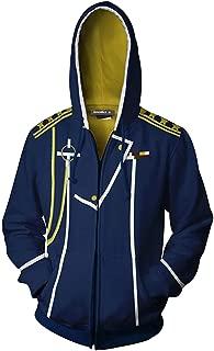 Edward Elric Roy Mustang Full-Zip Cosplay Costume Hoodies Sweatshirt Jacket Unisex