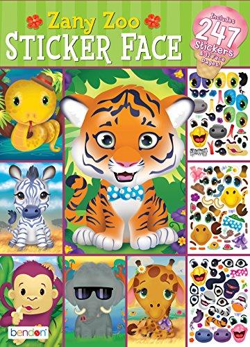 Bendon Zany Zoo Create-A-Face Sticker Pad 42424