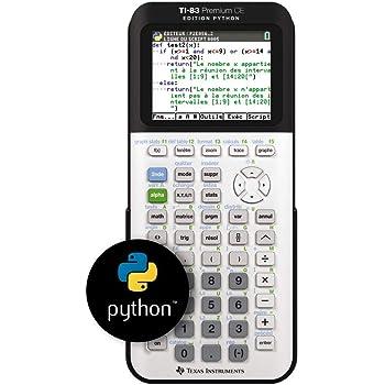 Texas Instruments TI-83 Premium CE Edition Python – Calculatrice graphique – Mode examen