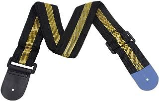 Alician Fashion Stripe Adjustable Guitar Strap Electric Acoustic Bass Guitar Strap Ukulele Belt Yellow Musical instrument