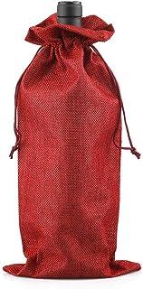 Paquete de 10 pieces de bolsos de la botella bolsos de regalo natural para vino cava y champ/án 36x12x10