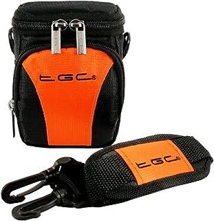 Como en calientes de la TGC en color naranja y color negro y con una bolsa de regalos de hombro además de para llevar la compacta para las necesidades de los Toshiba CAMILEO BW20 de cámara de vídeo