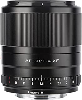 VILTROX 33mm F1.4 STM XF富士フイルム Xマウントカメラレンズ 固定焦点レンズ APS-C F1.4大口径 瞳AF 単焦点レンズ Fujifilm X-PRO1/Pro2 /X-S10/X-T1 /T 2/T3/X-T1...