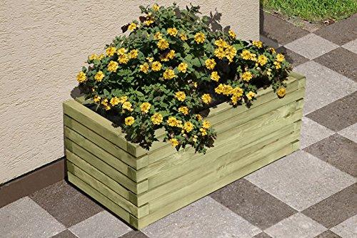 Jardinière rectangulaire en bois 80 x 40 x 35 cm
