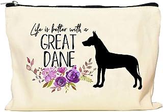 Great Dane Life is Better Makeup Bag