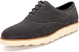 Men's Leder Freizeit Sehnen Schuhe Dress Herbst Business Mode Rutschen Schwarzbraun