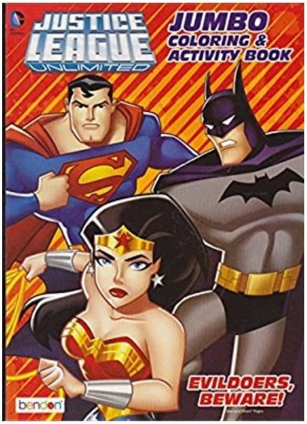 Ranking TOP19 Justice League Unlimited Jumbo Activity Coloring Book Evildoer Max 66% OFF