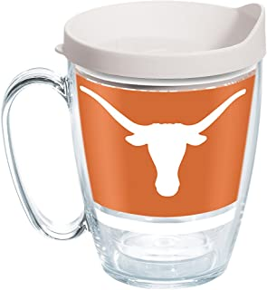 Tervis 1297286 NCAA Texas Longhorns Tradition Stainless Steel Tumbler with Lid 20 oz Silver