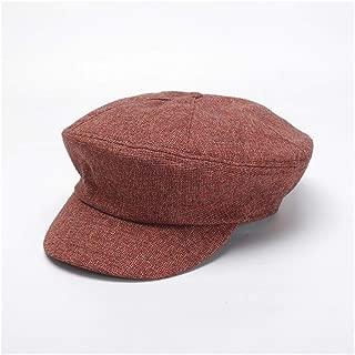 QinMei Zhou Cap Korean Casual Versatile Beret Painter hat Octagonal hat Newspaper hat (Color : Orange)