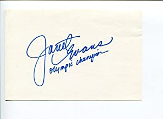 Janet Evans Sexy US Olympic Gold Medal Swimmer Signed Autograph - Olympic Cut Signatures