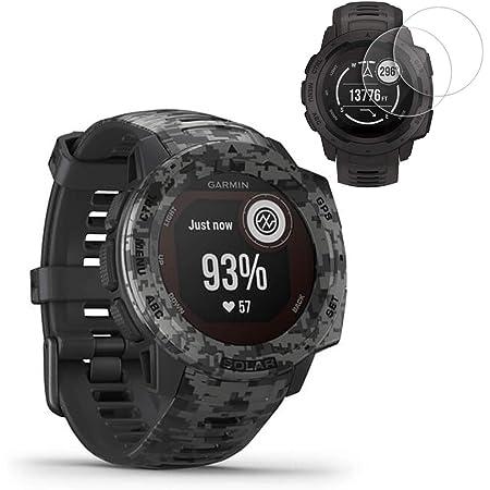 Garmin Instinct Solar Gps Smartwatch Camo Edition 010 02293 15 Mit 2 Displayschutzfolien Navigation