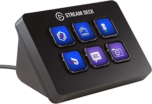 Elgato Stream Deck Mini - Compact Live Production Controller with 6 Customizable LCD keys, Trigger Actions in OBS Stu...