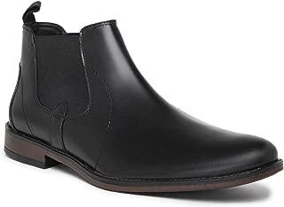 NOBLE CURVE Black Leather Chelsea Boots