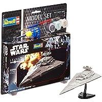 Revell Darth Vader Wars Set Imperial Star Destroyer, en Kit Modelo con Base Accesorios, fácil Pegar y para pintarlas, Escala 1:12300 (63609), 13,0 cm de Largo