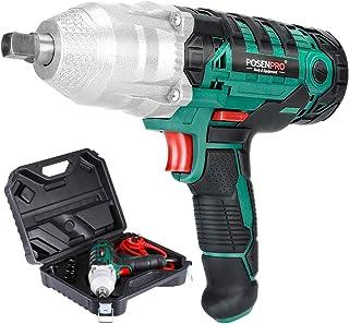 طقم مفتاح التحكم الكهربائي من بوستبرو 1.27 سم مع مسدس صدمات بسلك 450 وات بعزم دوران بحد أقصى 320 نانومتر
