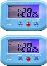 PETSOLA 2pcs Reloj Con Pilas Reloj Interior Del Coche Pantalla LCD Grande