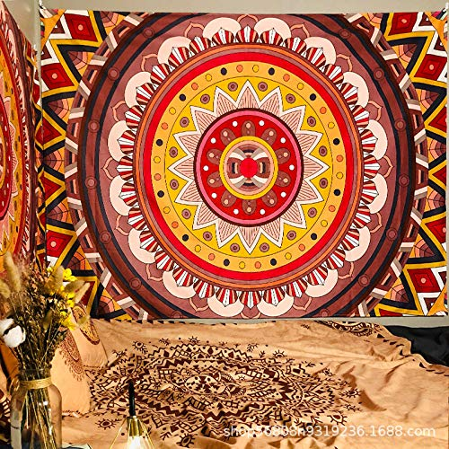 Tapiz De Pared,Tapiz Indio Mandala Colorido Patrón Ojos Nariz Tapicería De La...