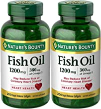 Nature's Bounty Fish Oil 1200 mg Twin Packs, 200 Rapid Release Liguid Softgels