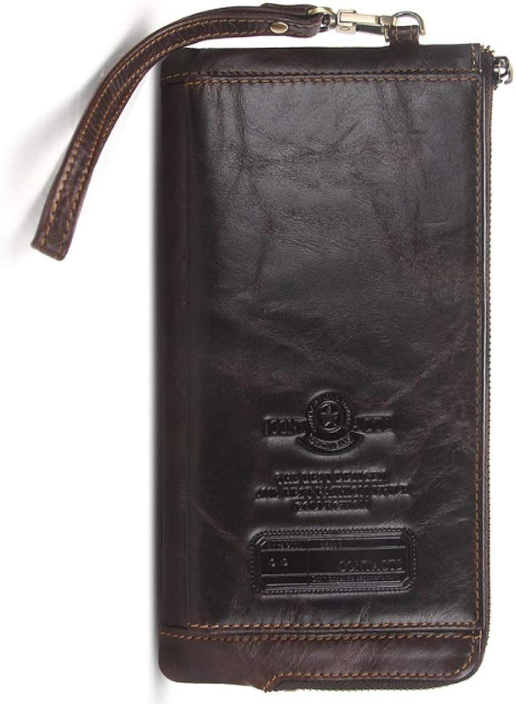 3c1fccf68eaf9 Baianf Leder-Multifunktions-Mode Herrenbrieftasche antimagnetische RFID  Herren Tasche (Farbe braun