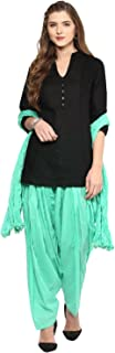 Pistaa women's Cotton Short Kurti and Punjabi patiala Salwar with dupatta set & Plus Size