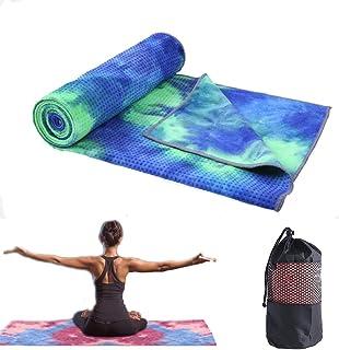 GooKit Non Slip Yoga Towel, Microfiber Sweat Absorbent Hot Yoga Towel, Quick Dry Yoga Mat Towel for Hot Yoga, Pilates and ...