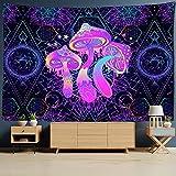 bugnaw Illusory Art Mushroom Tapices Colgando Bohemian Hippie Ins Tapiz De La Cama De La Cama De La Cabecera Decoración De La Habitación 39x59inch Polyester