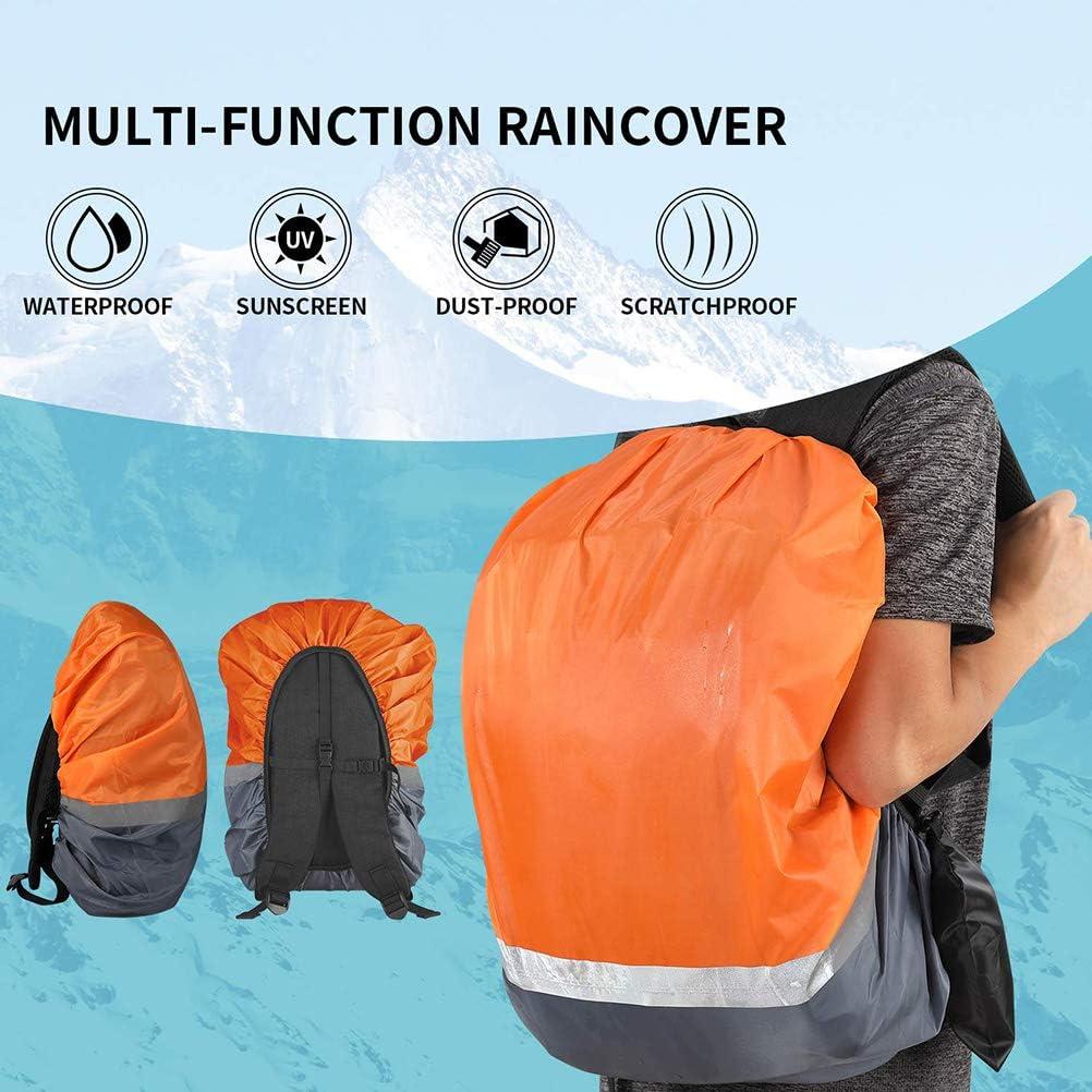 viajes Mochila impermeable con correa reflectante y tapa vertical ajustable para senderismo camping
