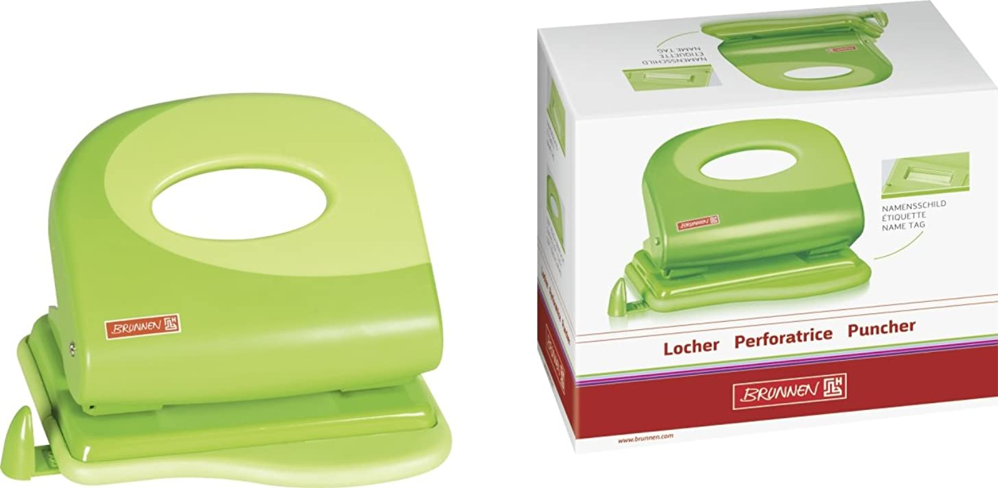 Fountain Punch Unit (Office) Colour Code, Metall/Plastic, 20 Sheet, Green