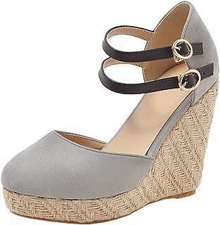 Zanpa Women Fashion Summer Shoes Wedge High Heels Weaving Sandals