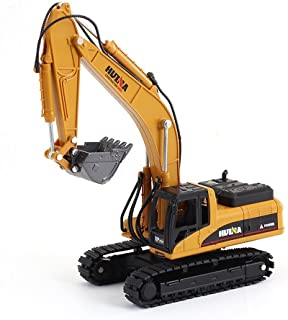 Geminismart Famous in-Home Learning Brand Scale Diecast Articulated Dump Truck Excavator Engineering Vehicle Construction Alloy Models Toys for Kids and Decoration for House(Excavator)