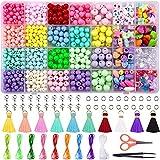 Duufin 1000 Pcs Poney Perles pour Bracelet Kit de Fabrication de Bracelets Perles de Bijoux Bricolage Perles Colorées Pour la Fabrication de Bijoux de Bracelet Artisanat Bricolage