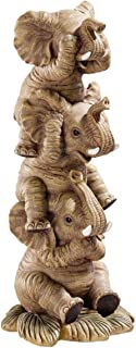 Design Toscano NG33769 Hear-No, See-No, Speak-No Evil Stacked Elephants Collectible..