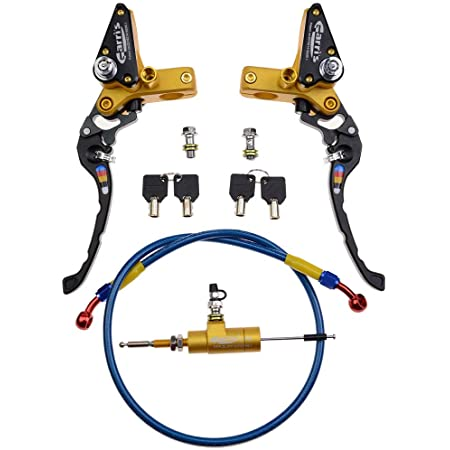 Goofit Universal Motorrad 7 8 Kupplung Cnc Hauptzylinder Für Hydraulische Kupplung Flüssigkeitsvorratsbehälter Hebelsatz Baumarkt