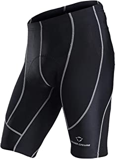 LEADER CYCLING Men's Cycling Shorts 3D Gel Padded Biking Bicycle Bike Pants Breathable Anti-Slip