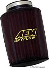 AEM Induction 1-4007 Dryflow Pre-Filter; 6 in. Base; 5 1/8 in. Top; 7 1/8 in. Tall; Silicone Treated Polyester;