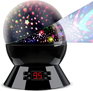 Night Light Baby Star Projector, 8 Color 360 Degree Rotation Lamp with Timer Remote and Chargeable, Dimmable Combinations ...
